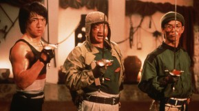 """(From L to R) Jackie Chan, Sammo Hung and Yuen Biao are ready to whip some Catalan ass in """"Wheels on Meals"""" (1984)."""