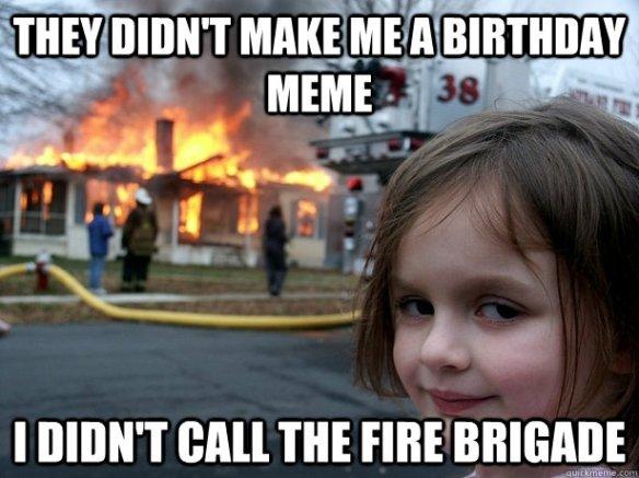 birthday fire