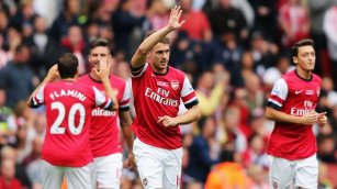 Ramsey arsenal stoke win 2013
